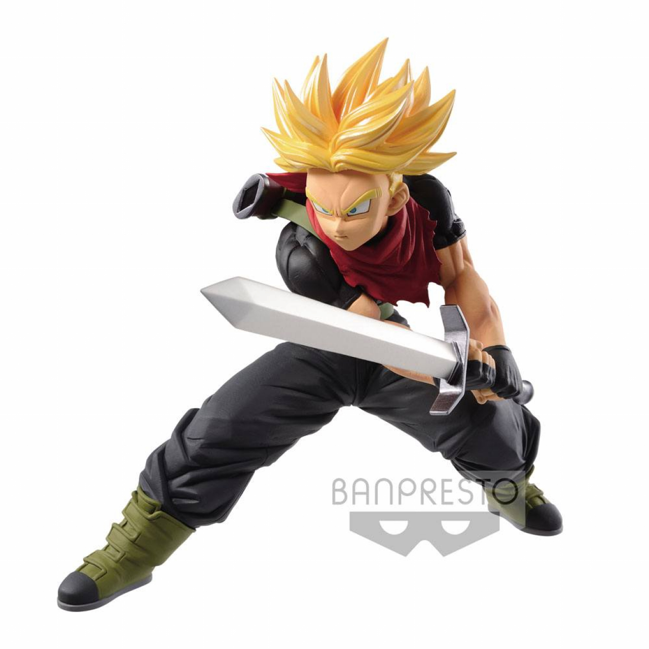 Super Dragon Ball Heroes Transcendence Art PVC Statue Super Saiyajin Trunks Future 14 cm
