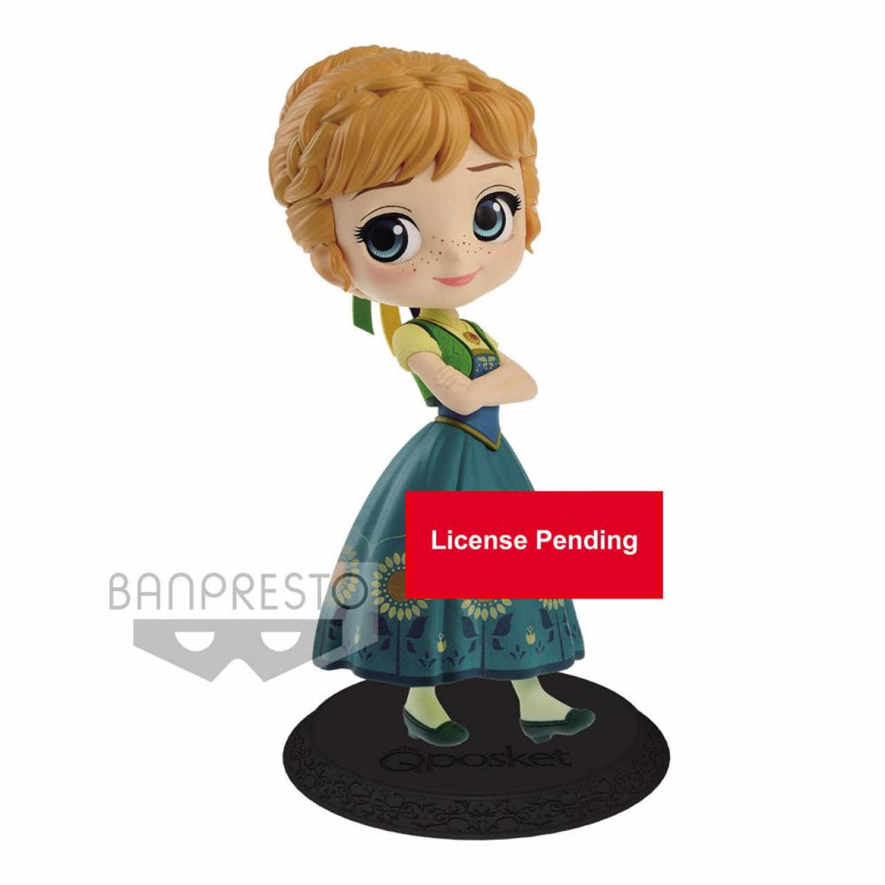 Disney Q Posket Mini Figure Anna Surprise Coordinate Ver. A 14 cm