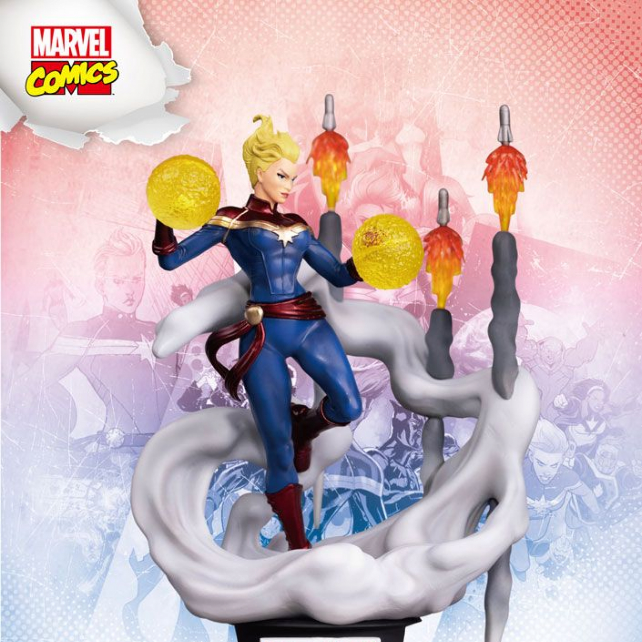 Marvel Comics D-Stage PVC Diorama Captain Marvel 16 cm