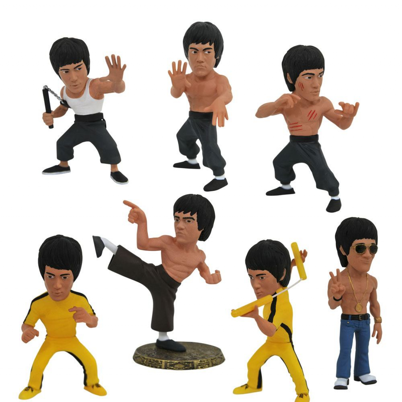 Bruce Lee D-Formz PVC Mini Figures 8 cm Display (12)