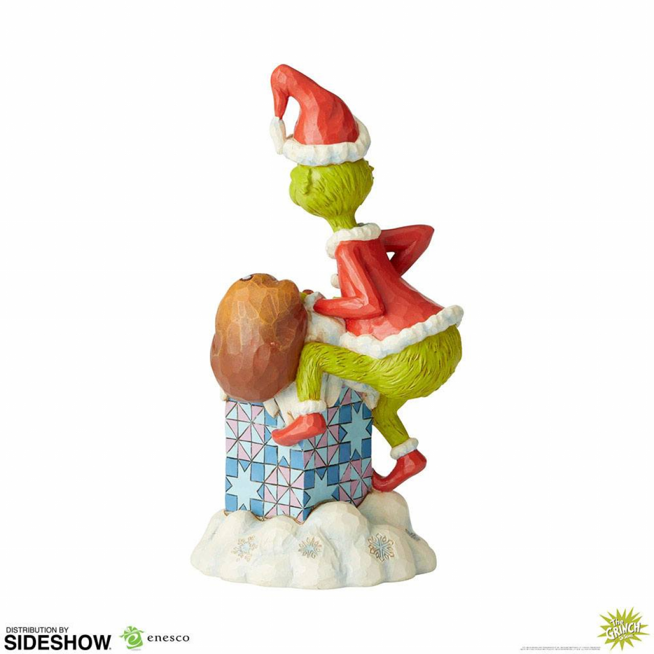How The Grinch Stole Christmas Statue Grinch Climbing In The Chimney By Jim Shore 23 Cm Otaku Square