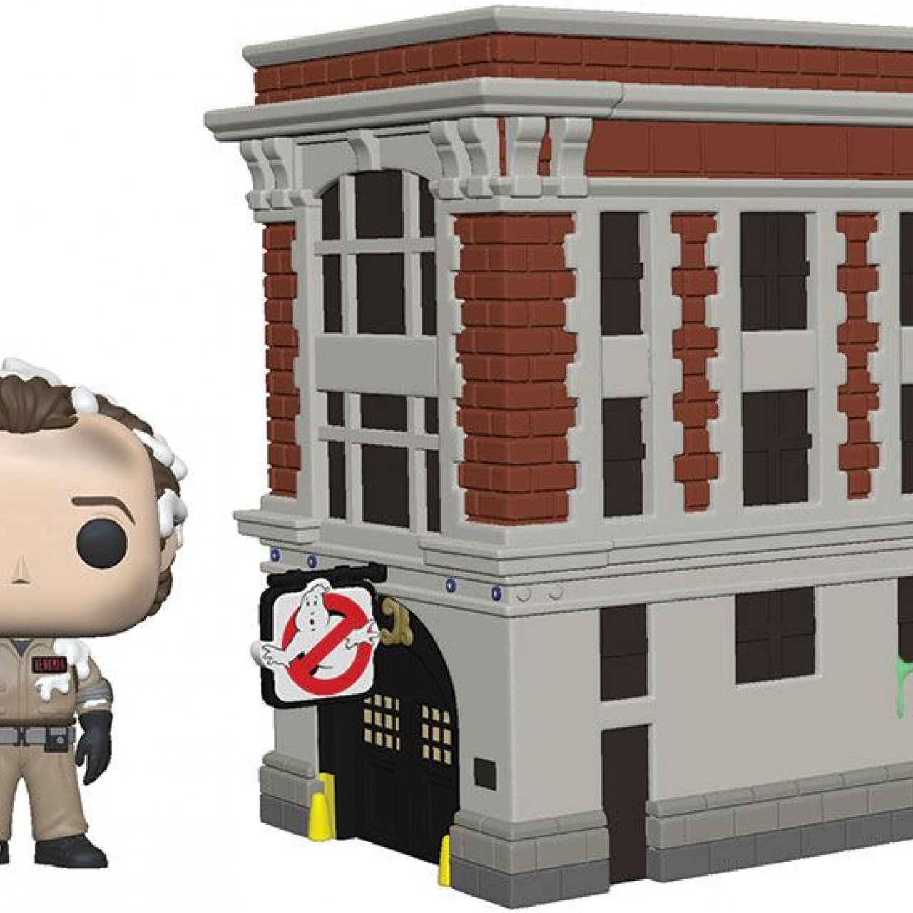 Ghostbusters POP! Town Vinyl Figure Dr. Peter Venkman & House 9 cm