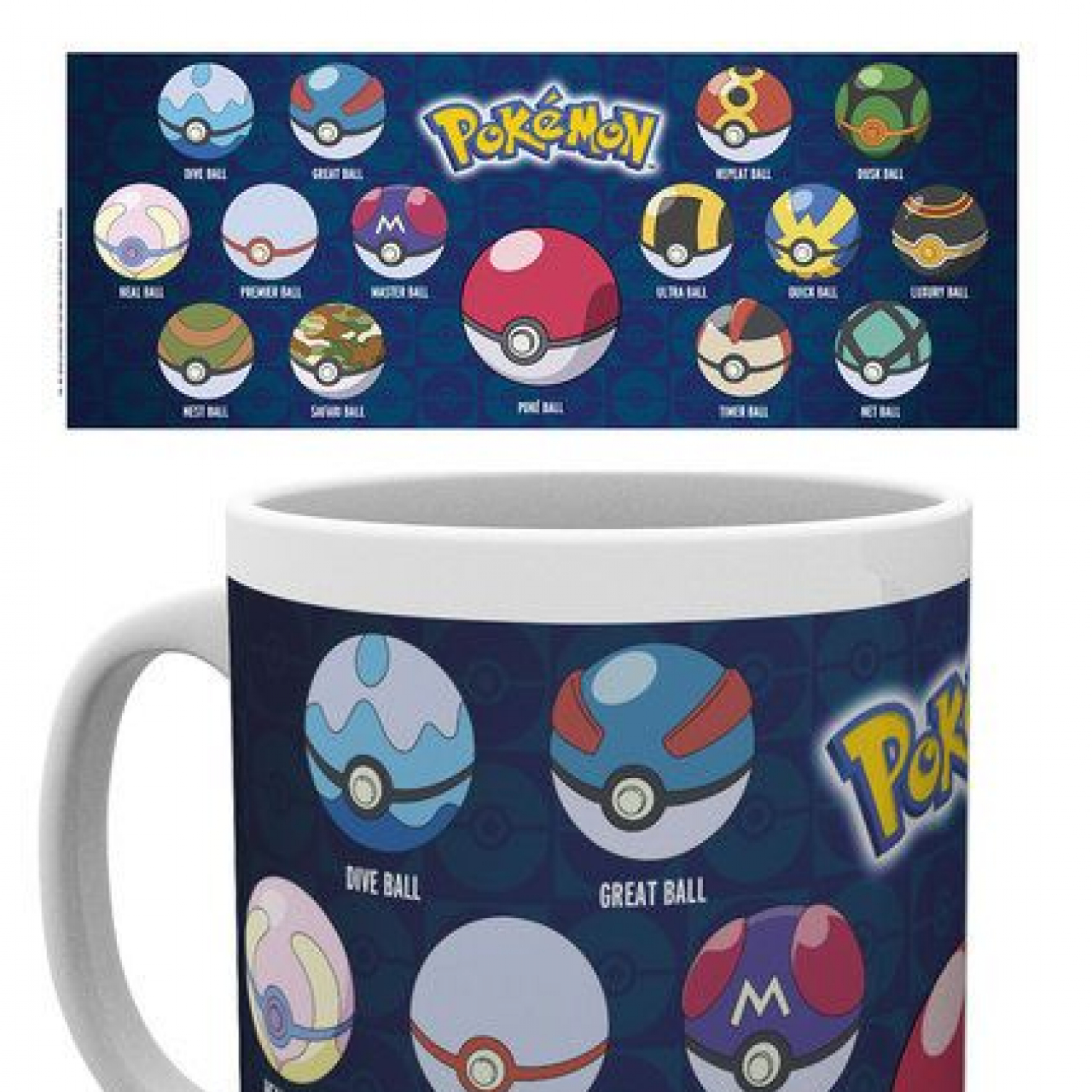 Pokemon Mug Ball Varieties