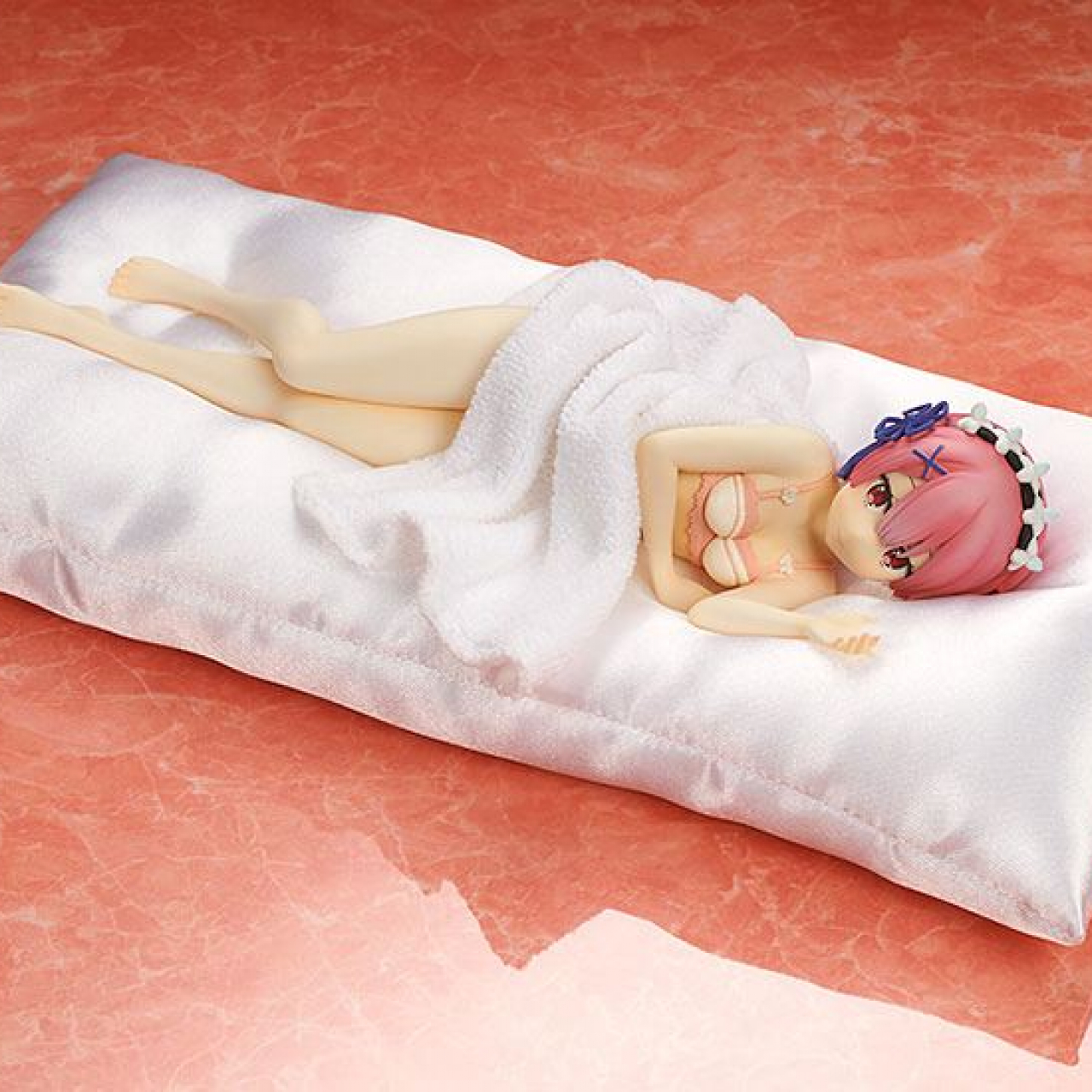 Re:ZERO -Starting Life in Another World- PVC Statue 1/7 Ram Sleep Sharing Pink Lingerie Ver. 23 cm