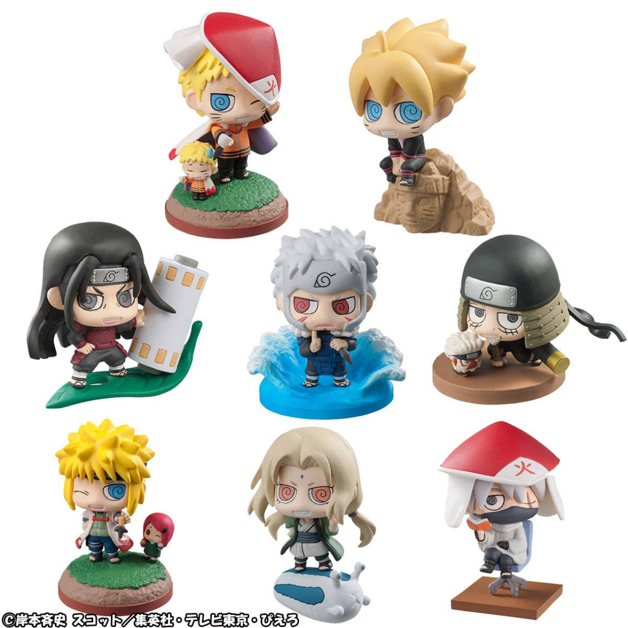 Boruto Naruto Next Generation Petit Chara Land Trading Figure 6 cm Assortment Boruto & Hokage (8)