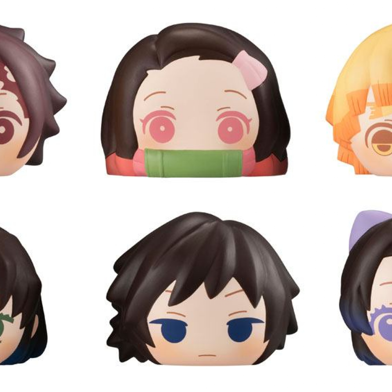 Demon Slayer: Kimetsu no Yaiba Fluffy Squeeze Bread Anti-Stress Figures 8 cm Assortment (6)