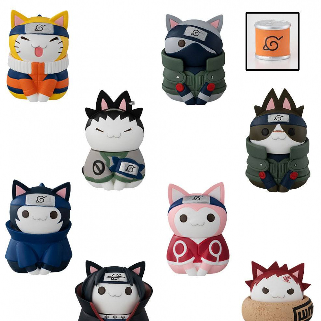 Naruto Shippuden Nyaruto! Trading Figure Cats of Konoha Village Limited Set 3 cm