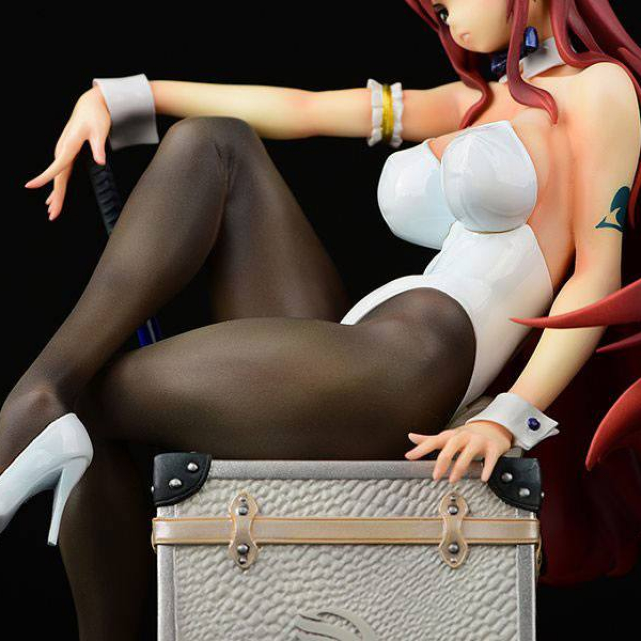 Fairy Tail PVC Statue 1/6 Erza Scarlet Bunny Girl Style Type White 20 cm