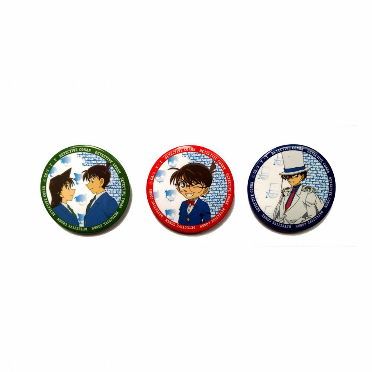 Case Closed Pin Badges Conan, Kaito, Shinichi & Ran Assortment (3)