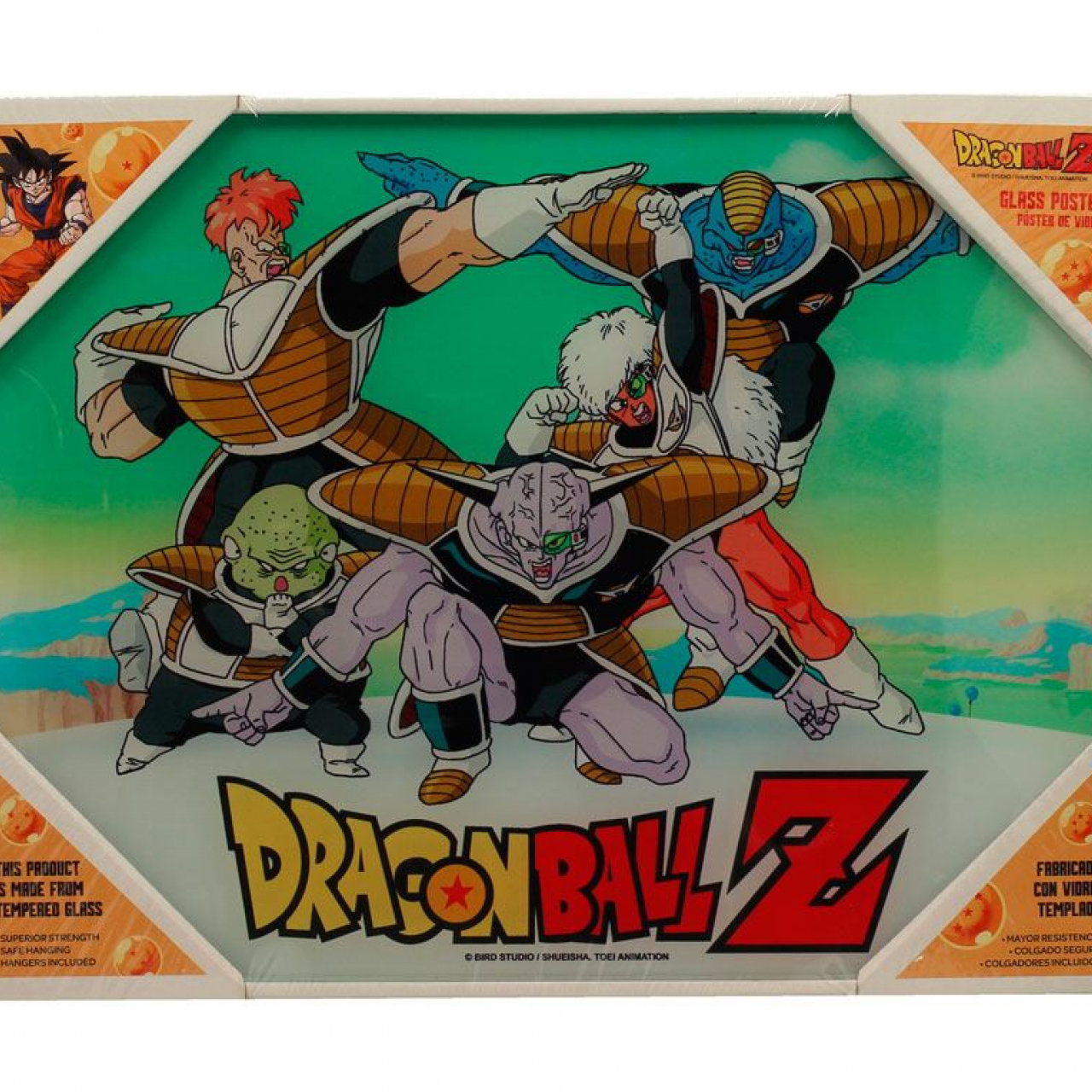 Dragonball Z Glass Poster Special Forces 30 x 40 cm