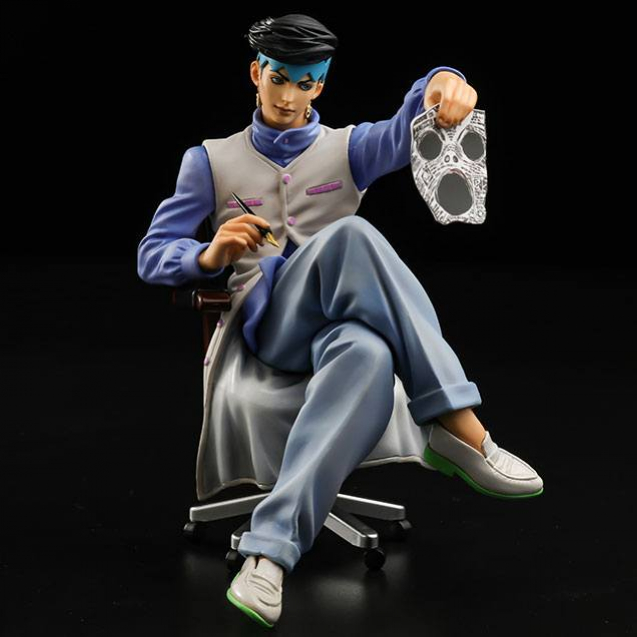 JoJo's Bizarre Adventure Diamond Is Unbreakable Memo Holder PVC Statue Kihsibe Rohan 12 cm