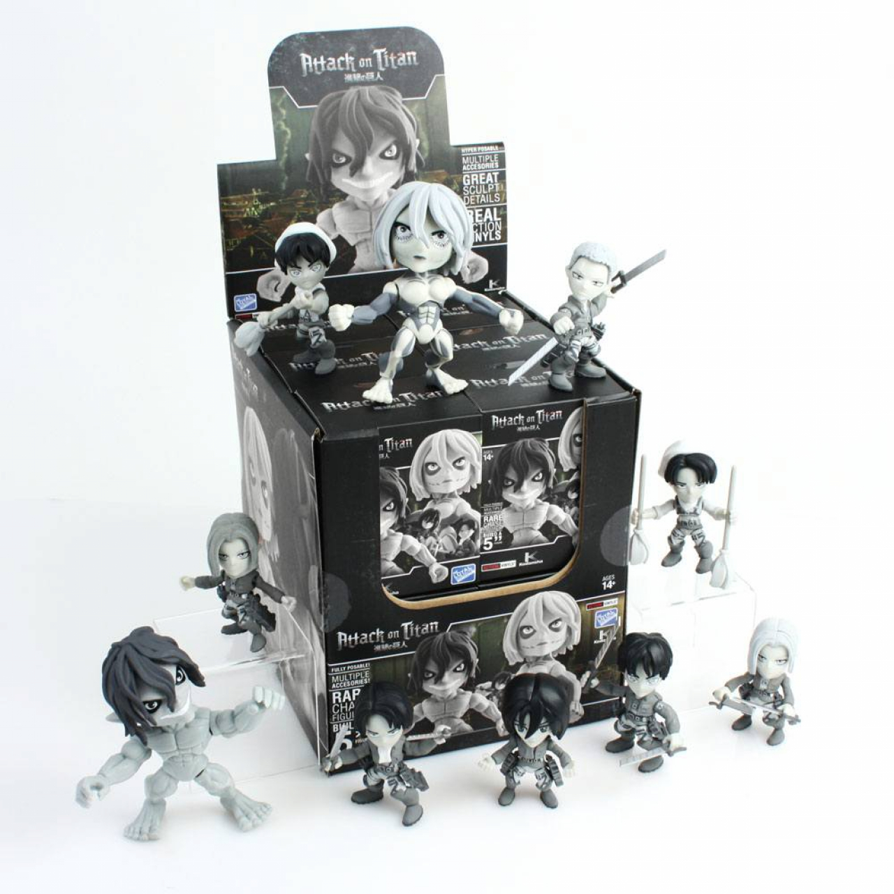 Attack on Titan Action Vinyl Mini Figures 8 cm TG Display (12)