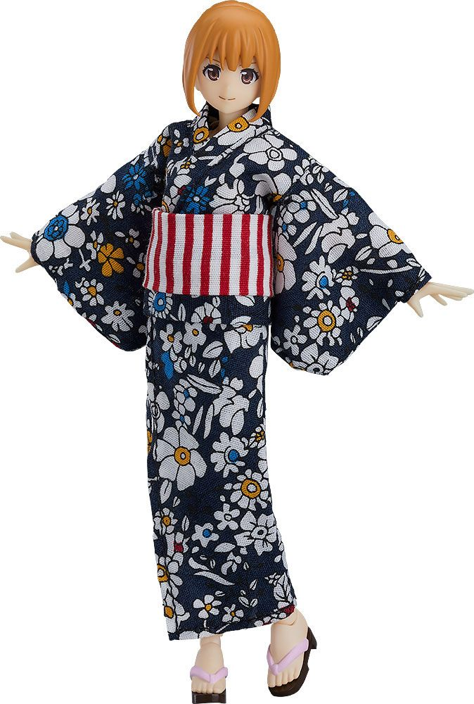 Original Character Figma Action Figure Female Body Emily with Yukata Outfit 13 cm